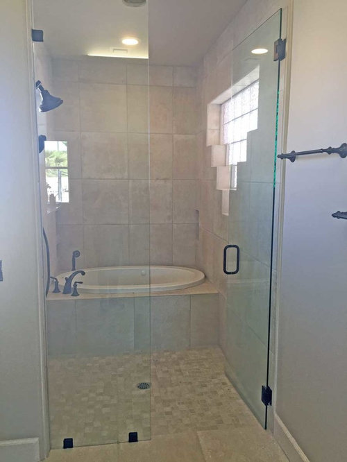 Houzz Las Vegas Bathroom With Distressed Cabinets Design