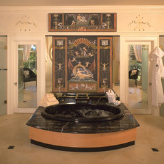 mediterranean bathroom by Jerry Jacobs Design, Inc.