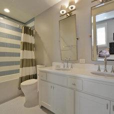 Transitional Bathroom by GreenTex Builders LLC