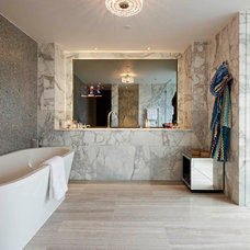 Contemporary Bathroom by Living in Space