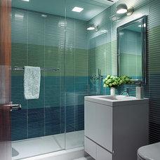 Modern Bathroom by Amy Lau Design