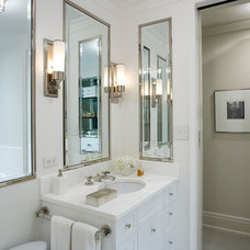 Transitional Bathroom by Godwin Residential Construction