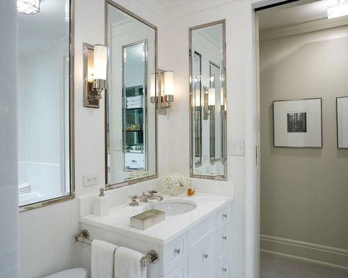 Chrome Framed Bathroom Mirrors chrome framed mirror | houzz