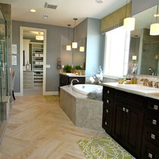 Transitional Bathroom by Interior Resource Group