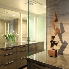 modern bathroom by Paul Davis Architects PC