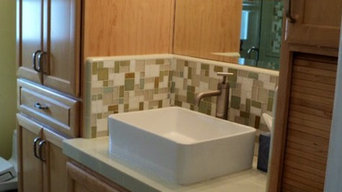 Ceramic and Glass Tile Bathroom