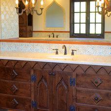 Mediterranean Bathroom by Nina Williams Designs