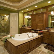 Mediterranean Bathroom by Peregrine Homes