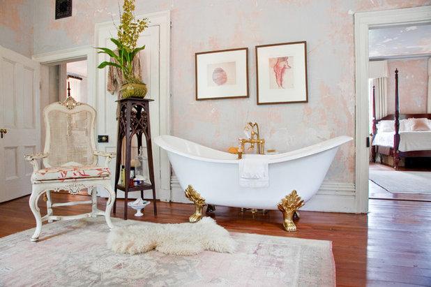 Shabby-chic Style Bathroom by Charleston Home + Design Mag