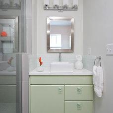 Beach Style Bathroom by Charleston Home + Design Mag
