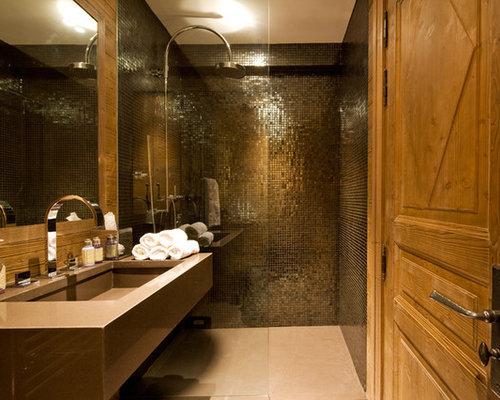 ide de dcoration pour une salle deau design de taille moyenne avec un lavabo - Salle De Bain Metal