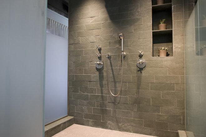 Eclectic Bathroom by Sandvold Blanda Architecture + Interiors LLC
