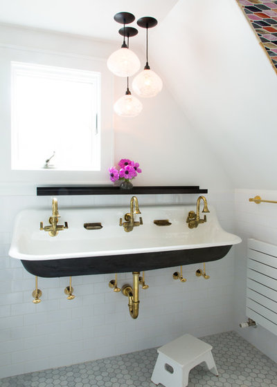Superb Traditional Bathroom by Strianese Pew
