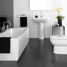 Modern Bathroom Charcoal bathroom floor tile