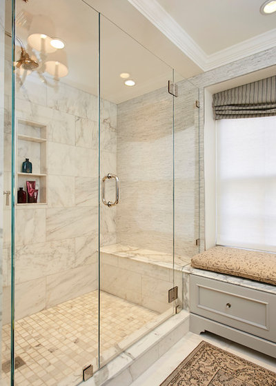 Transitional Bathroom by Lee Kimball