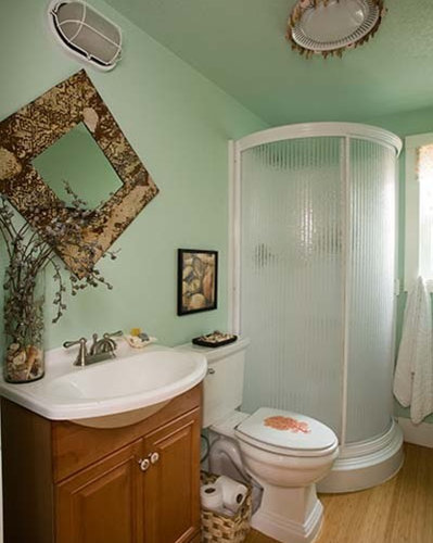 Bathroom design ideas remodels photos with bamboo floors for Bamboo bathroom decorating ideas