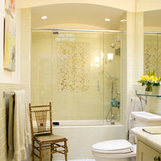 Eclectic Bathroom by Charmean Neithart Interiors, LLC.