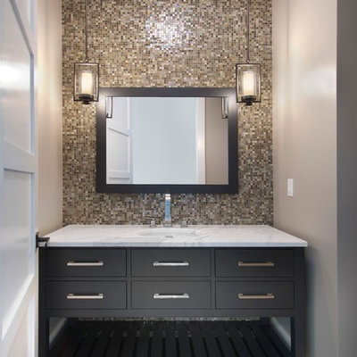Example of a trendy mosaic tile bathroom design in Miami
