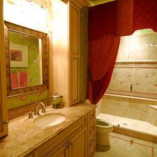 Mediterranean Bathroom by MJS Inc. Custom Home Designs