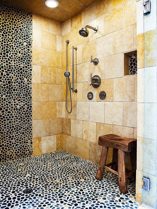 Good Inspiration For A Large Eclectic Master Pebble Tile Pebble Tile Floor  Alcove Shower Remodel In Charleston