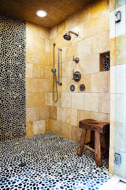 Eclectic Bathroom by Copper Leaf Interior Design Studio