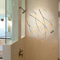 Asian Bathroom by Smithcraft Tile & Stone
