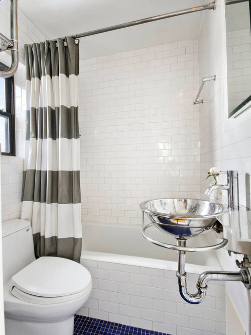 Shower Curtain Design Ideas apartment bathroom ideas shower curtain Inspiration For A Small Contemporary Tubshower Combo Remodel In New York With A Wall