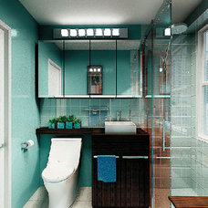 Modern Bathroom by Marie Burgos Design