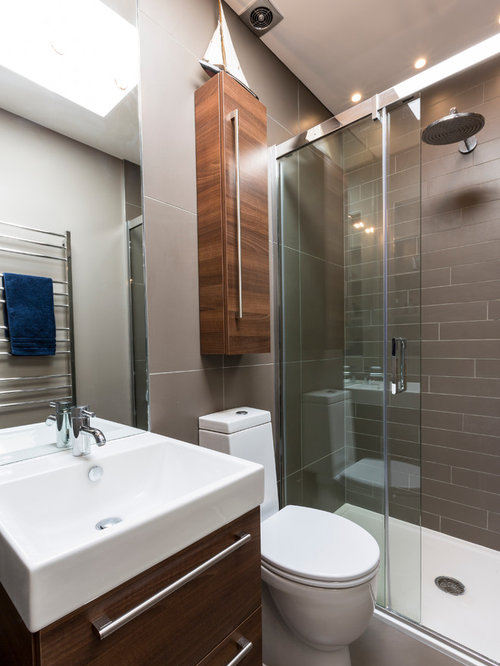 Modern Bathroom Idea In Surrey Small Toilet Space Houzz