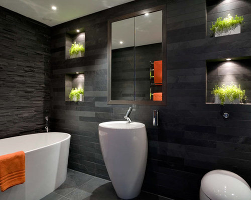 Modern toilet houzz for Wc deco modern