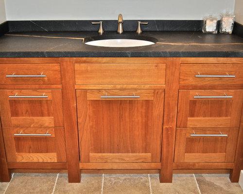 Houzz cherry bathroom vanity design ideas remodel pictures for Cherry bathroom vanity