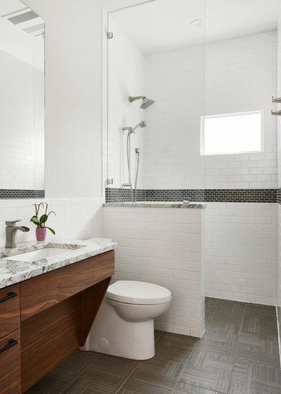 Transitional Bathroom by Studio Steinbomer