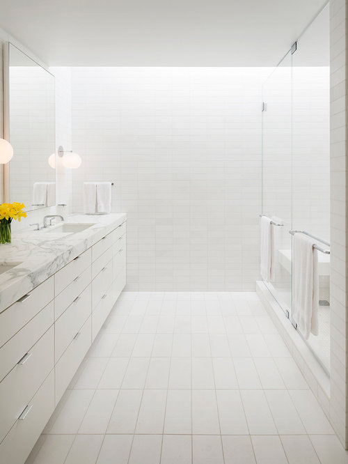 All White Bathroom Houzz