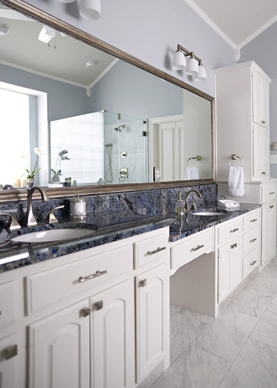 Transitional Bathroom by J Wiley Designs