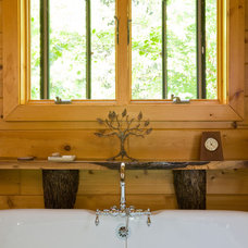 Traditional Bathroom by Katahdin Cedar Log Homes