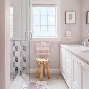 75 Beautiful Bathroom with Pink Walls and Terrazzo