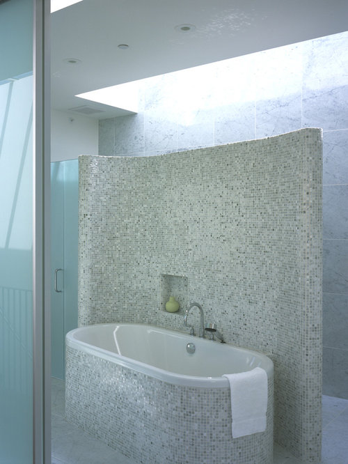 Separate shower and bath houzz for Narrow deep soaking tub