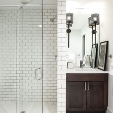 Transitional Bathroom by Cure Design Group