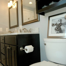 transitional bathroom by RJK Construction Inc