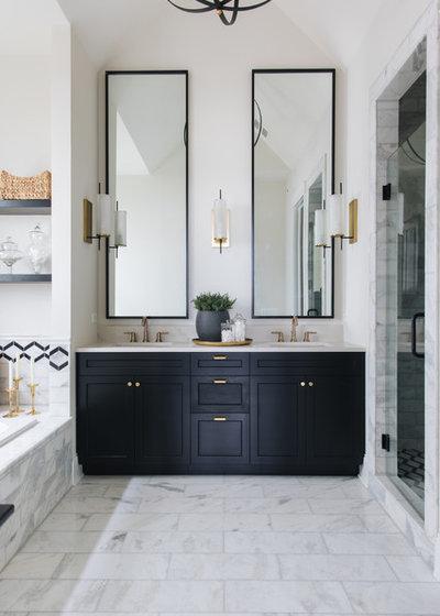 Farmhouse Bathroom by Timber Trails Development Company