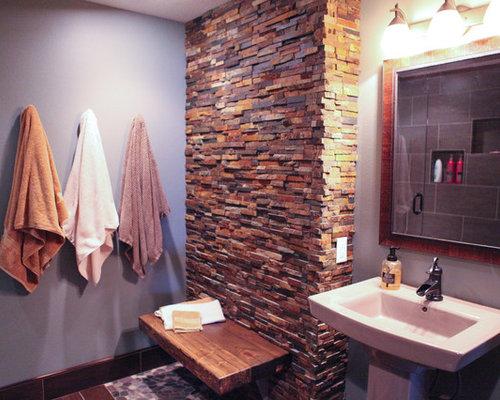 Purple bathroom design ideas renovations photos with a for 2 piece bathroom ideas