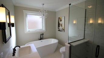 Chic Transitional Bathroom Remodel