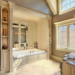 eclectic bathroom by Greenside Design Build LLC