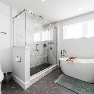 Foto på ett mellanstort vintage en-suite badrum 66ff0bec17d73