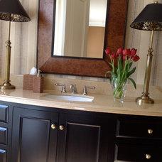 Traditional Bathroom by Barbara Page Interiors