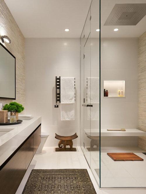 bathroom design ideas, remodels & photos with beige tile