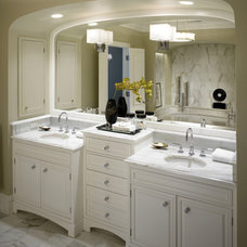 Transitional Bathroom by Handman Associates