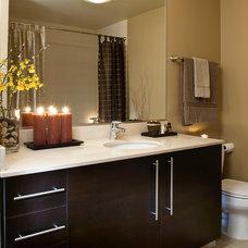 Transitional Bathroom by Hilary Bailes Design