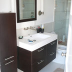 Mirror Door Modern Bathroom Sacramento By