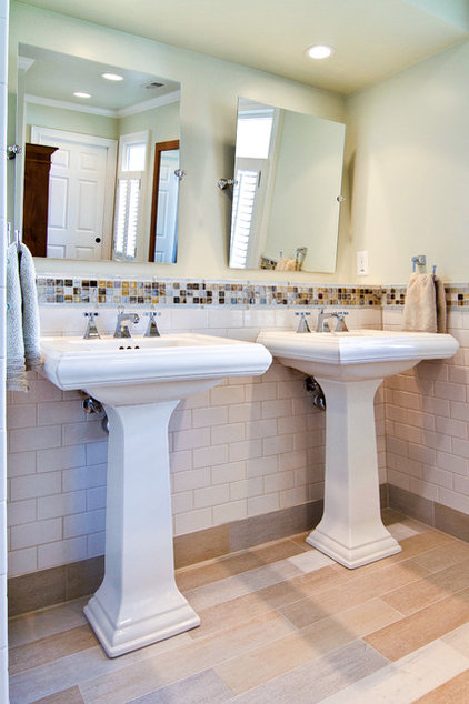 crown your pedestal sink with a fitting mirror